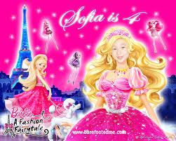 Barbie Birthday Invitation Cards Barefooted Me Barbie A Fashion Fairytale Birthday