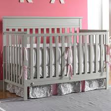 Fixed Side Convertible Crib by Fisher Price Newbury Convertible Crib In Misty Grey
