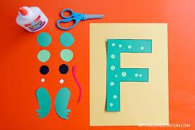 letter f craft frog myteachingstation com