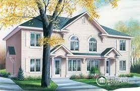 Multi Unit House Plans Duplex Triplex And Multi Unit Home Plans From Drummondhouseplans Com