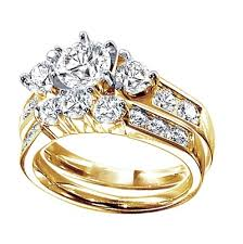 yellow gold wedding ring sets only you brilliant bridal set in yellow gold 1 ct