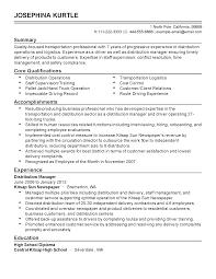 Logistics Resume Summary Bus Driver Resume Summary Sidemcicek Com