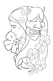 hannya mask tattoo design by ian somers on deviantart