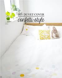 Duvet Cover Diy Diy Duvet Cover Confetti Style Poppytalk