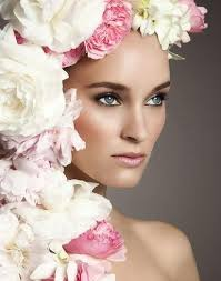 floral headdress floral headdress with an attractive makeup 2052279 weddbook