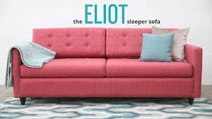 Pop Up Platform Sleeper Sofa by The Eliot Sleeper Sofa By Joybird Furniture Youtube