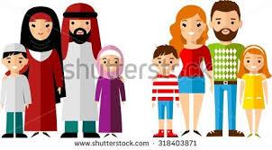 seamless background set multicultural national children seamless