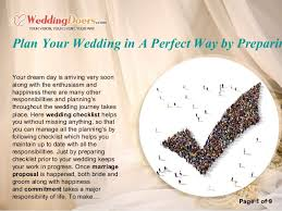 plan your wedding plan your wedding in a way by preparing checklist