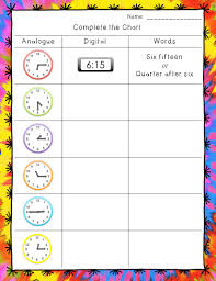time worksheets hour half hour and quarter hour telling time
