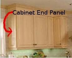 kitchen cabinet end caps how to install kitchen cabinet end panels www looksisquare com
