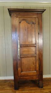 A Key To The Armoire 1800 U0027s Antique French Armoire Narrow With Single Door Carved Of