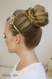 howtododoughnut plait in hair braid wrapped high bun