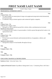 Contract Specialist Resume Example by Transportation Logistics Specialist Resume Sample U0026 Template