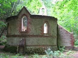 the derelict victorian church is near petworth in west sussex