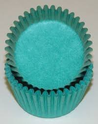 blue color mini cupcake liners papers wrappers grease
