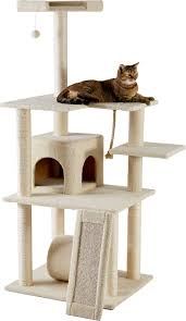 Cat Trees For Big Cats Frisco 62 Inch Cat Tree Cream Chewy Com