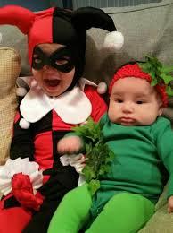 Harley Quinn Halloween Costume Diy Toddler Harley Quinn Baby Poison Ivy Sister Halloween Costumes