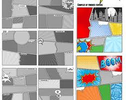 comic book templates comic strip superhero cartoon story