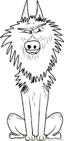 alpha wolf coloring free storks coloring pages