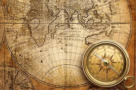 Compass Map Map Old Things Photography Compass Abstract