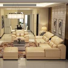 Compare Prices On Leather Furniture Living Room Online Shopping - Leather sofa design living room