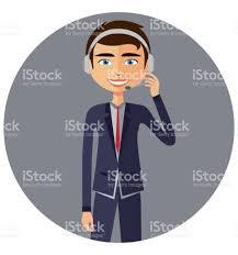 Customer Help Desk An Operator Man With Headset Customer Service Helpdesk Service