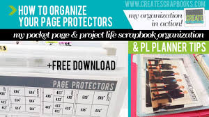 scrapbook page protectors scrapbook organization project pocket page protectors pl
