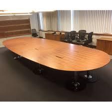 walnut veneer boardroom table seats 22 large boardroom table