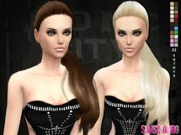 the sims 4 cc hair ponytail sims 4 downloads ponytail
