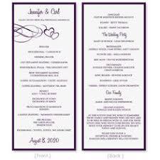 tea length wedding program template wedding program template by diyweddingtemplates on etsy