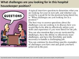 Hospital Housekeeping Resume Examples by Hospital Housekeeper Interview Questions