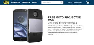 projector deals black friday deal free moto projector with moto z or moto z force purchase at