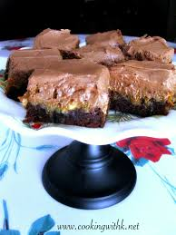 cooking with k decadent german chocolate brownies