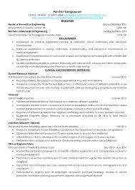 Biomedical Engineer Resume Doc 453600 Biomedical Engineer Resume U2013 Senior Biomedical