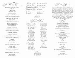 wedding church program templates template church program template