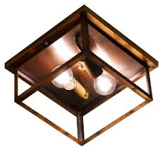 copper flush mount light the coppersmith 4 side copper ceiling light 4 side copper ceiling