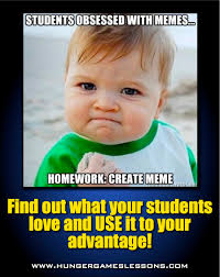 Hunger Games Meme - hunger games lessons meme assignment your students will love