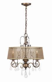 Chandeliers With Shades And Crystals by Buy Belle Marie 6 Light Crystal Chandelier W Shade In Antique Gold