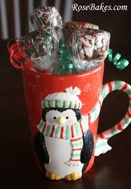 Gift Mugs With Candy Peppermint Marshmallow Dips For Chocolate Great Gift Idea