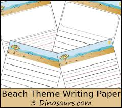 themed paper free themed writing paper 3 dinosaurs