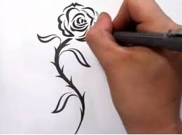 Tribal Tattoos With Roses - tattoos drawing a cool tribal design