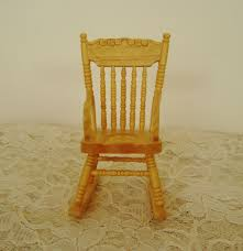 Rocking Chair Philippines Miniature Rocking Chair Dollhouse Wood Furniture Rocker Doll House