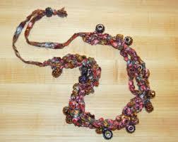 trellis ladder yarn necklace instructions trellis yarn etsy