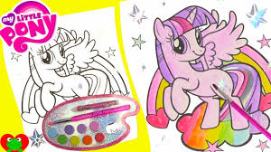 my little pony twilight sparkle water coloring page with lol doll