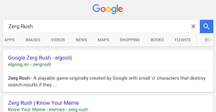 Zerg Rush Know Your Meme - google tricks write zerg rush on google from your phone and see