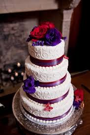 red and purple wedding wedding cake http simpleweddingstuff