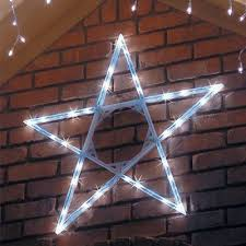 White Christmas Decor Outdoor by Led Cool White Hanging Outdoor Christmas Star Outdoor Christmas