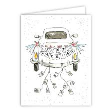 just married cards just married car greeting card