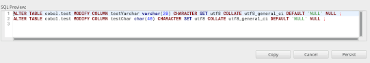 alter table modify column null is not correct on char varchar type issue 1913 dbeaver