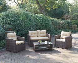 Cheap Patio Sofa Sets Poundex P50245 Outdoor Patio 4 Pcs Sofa Set